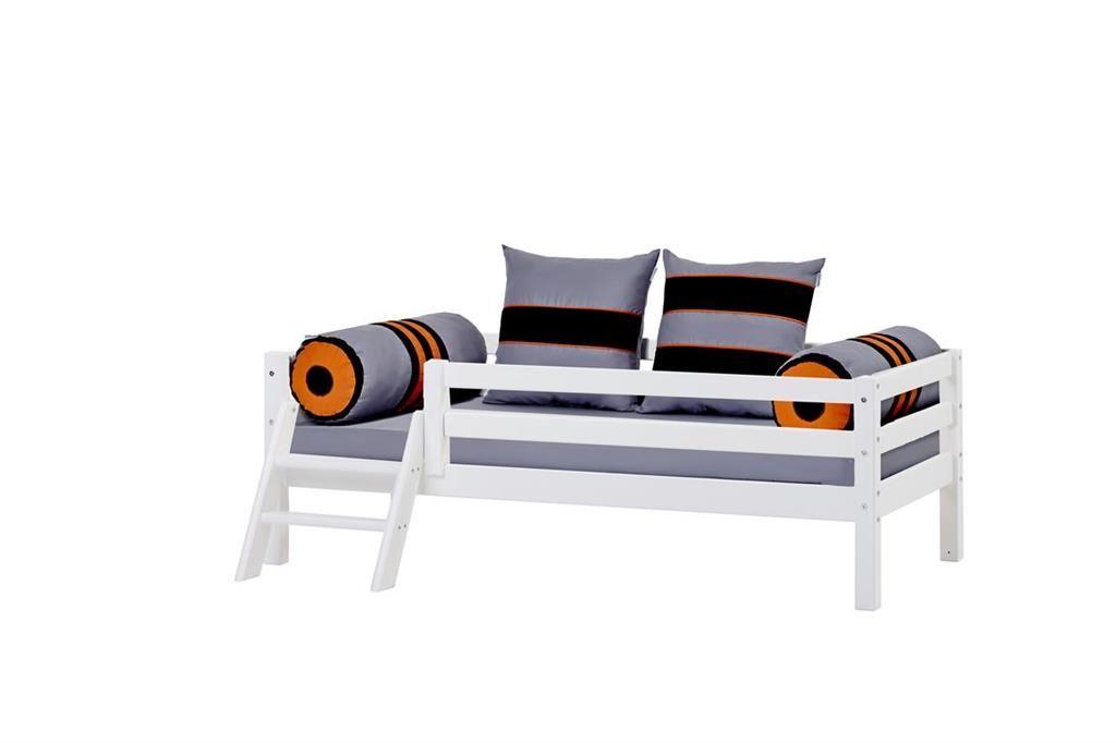 Hoppekids BASIC Juniorseng - Hvid - Juniorseng med trappe i hvid - 70x160 cm