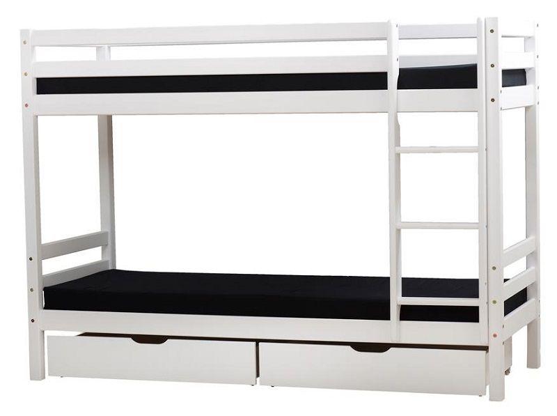 Hoppekids BASIC Køjeseng - 90x200 cm - Køyeseng - Hvit