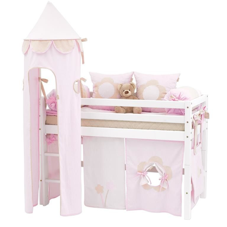 Hoppekids Fairytale Flower Tårn - Tårn til halvhøj seng