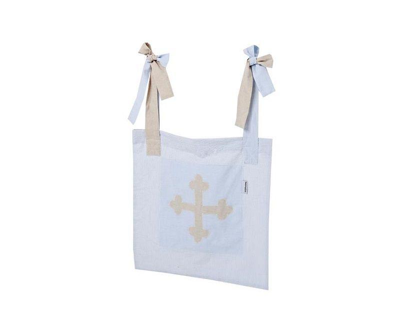 HoppeKids Fairytale Knight Sengetaske - Lyseblå opbevaringspose til sengegavl