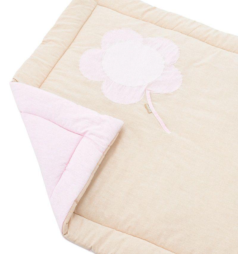 HoppeKids Flower Tæppe  - Lyserød legetæppe til IDA kravlegård