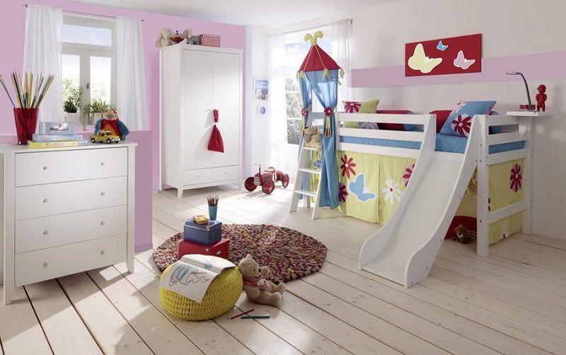 Hoppekids Premium Halvhøj seng - Halvhøj seng med rutsjebane - 90x200 cm