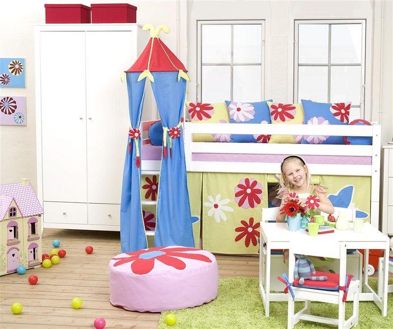 Hoppekids Premium Halvhøj seng - Halvhøj seng med lige stige - 90x200 cm