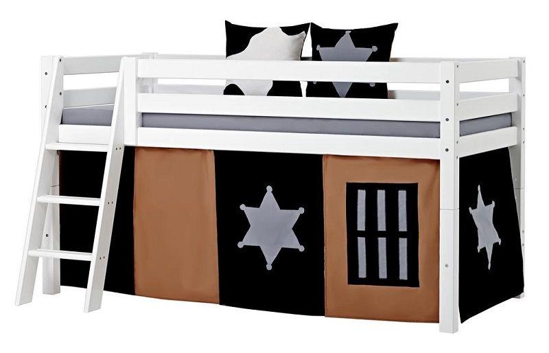 HoppeKids Premium Halvhøj seng - Halvhøj seng med skrå stige - 90x200 cm