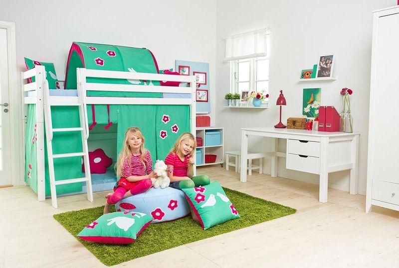 HoppeKids Premium Juniorkøjeseng - Juniorkøjeseng med skrå stige - 70x160 cm