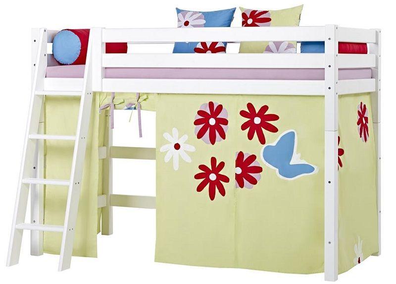 HoppeKids Premium Mellemhøj seng - Mellemhøj seng med skrå stige - 90x200 cm