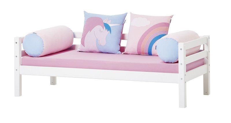 Hoppekids - Unicorn Pølsepude Ø23 - Lyserød - Aflang pude i lyserød