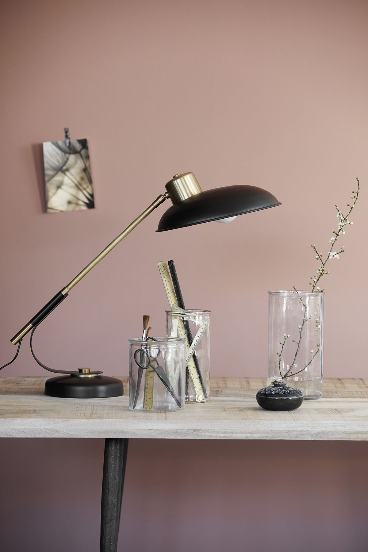 House Doctor Art Deco Bordlampe - Metal bordlampe