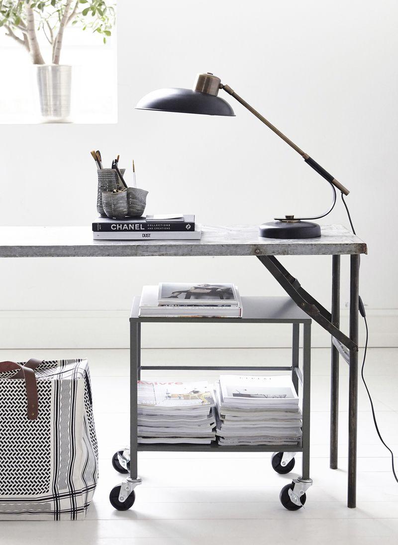 Art Deco Bordlampe - Metal bordlampe
