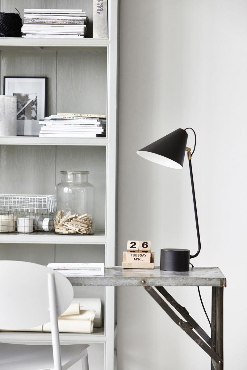 House Doctor Club Bordlampe Messing - Bordlampe med detaljer i messing