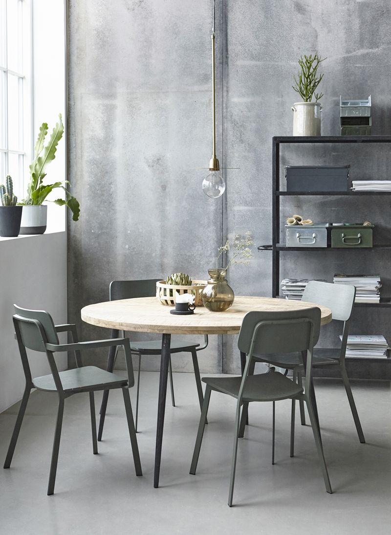 House Doctor Club Spisebord Natur, Ø130 - Rundt spisebord