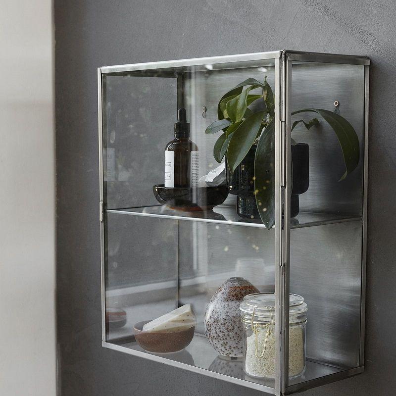 House Doctor Glasskab i rustfri stål H40 - Glasskab i rustfrit stål