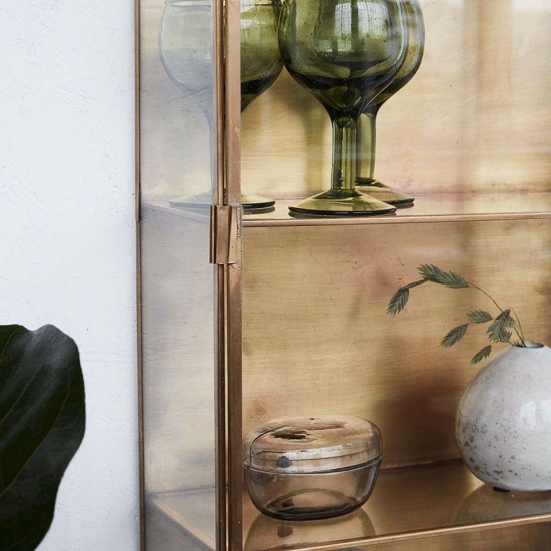 House Doctor Glasskab m/messing H80 - Højt glasskab med messing