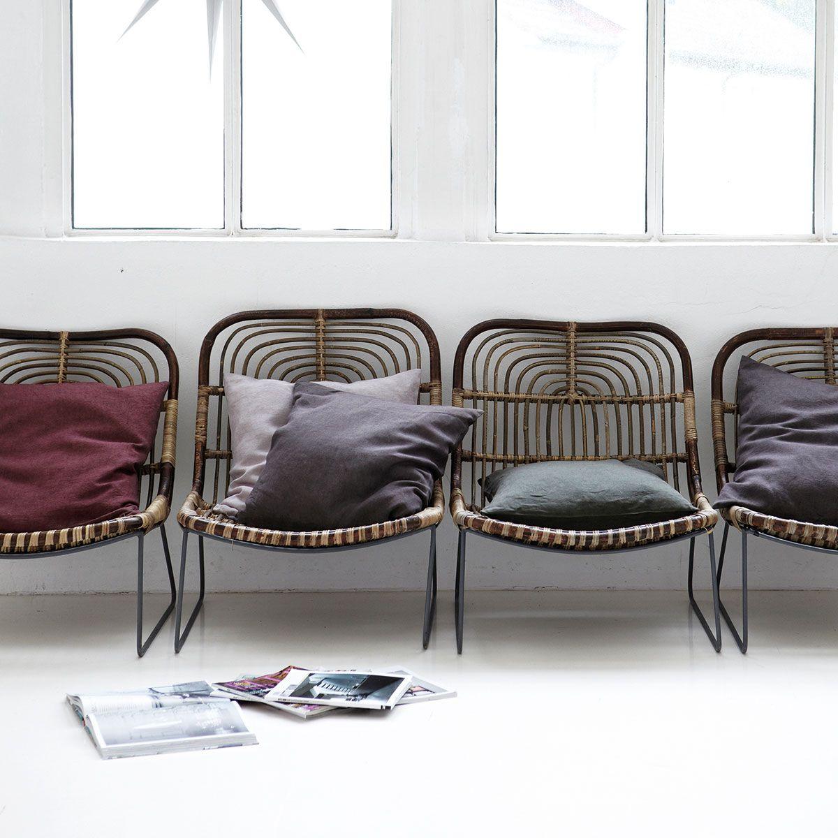 House Doctor Kawa Lounge stol - Naturfarvet loungestol i metal.