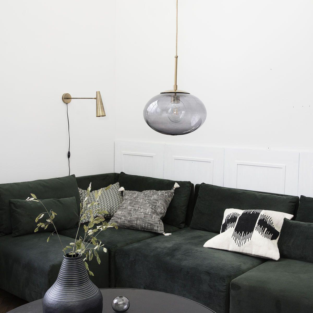 house doctor opal loftlampe gr glas. Black Bedroom Furniture Sets. Home Design Ideas