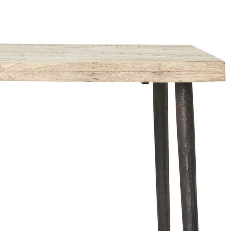 House Doctor Slated Spisebord Mangotræ - Trebord med jern understell