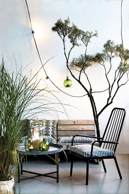 House Doctor Woodie Loungestol - Lækker lounge-stol i teaktræ