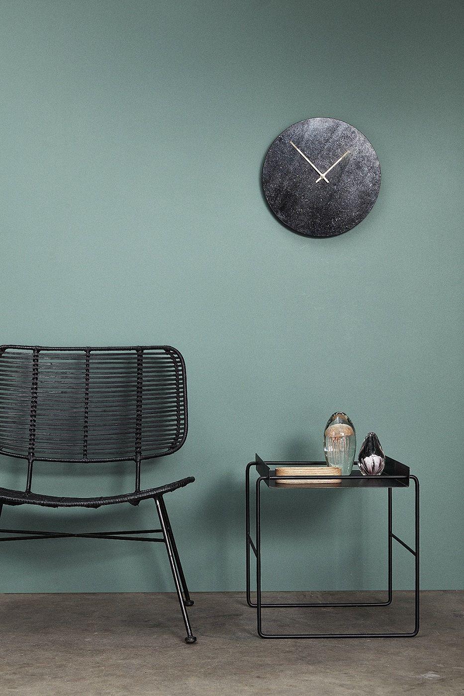 Hübsch Sidebord 41x41 - Sort metal
