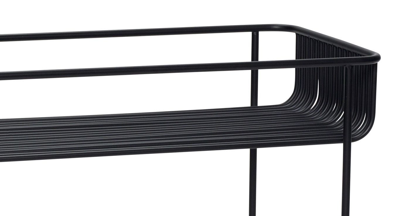 Hübsch Sidebord m. høj kant - Sort