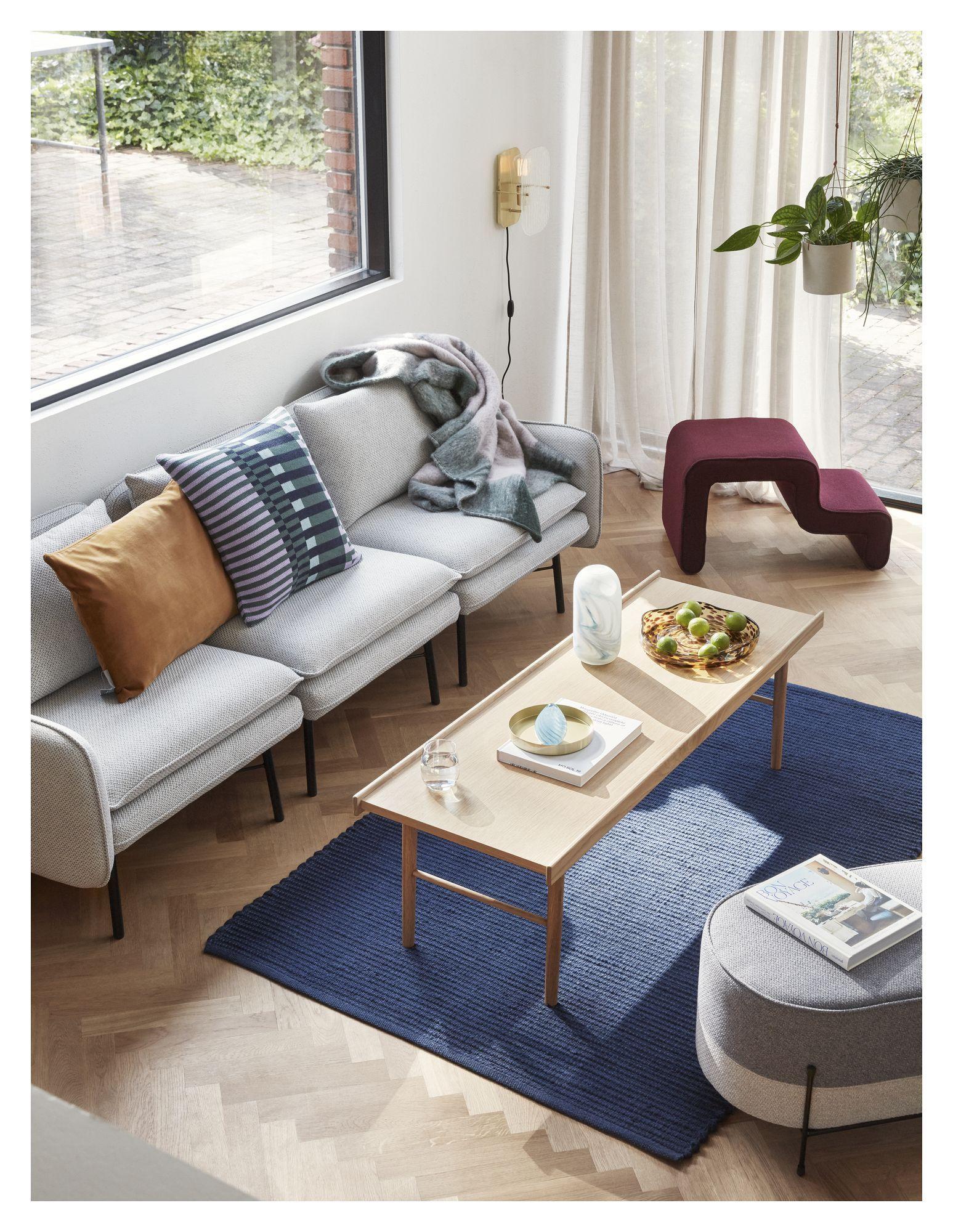 Hübsch Sofabord m. kant - Egefinér