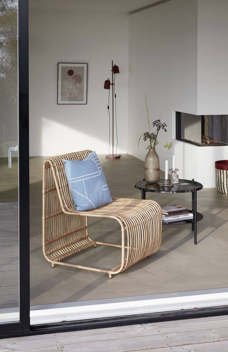 Hübsch Sofabord Ø65 - Sort