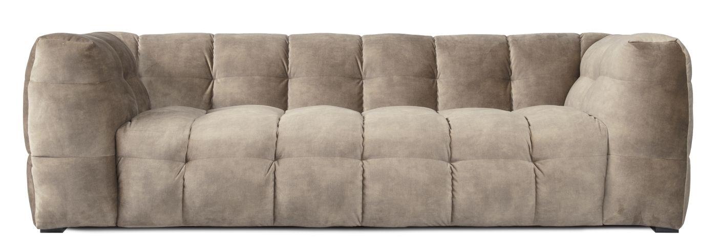 Hudson Sofa - beige m. sorte ben