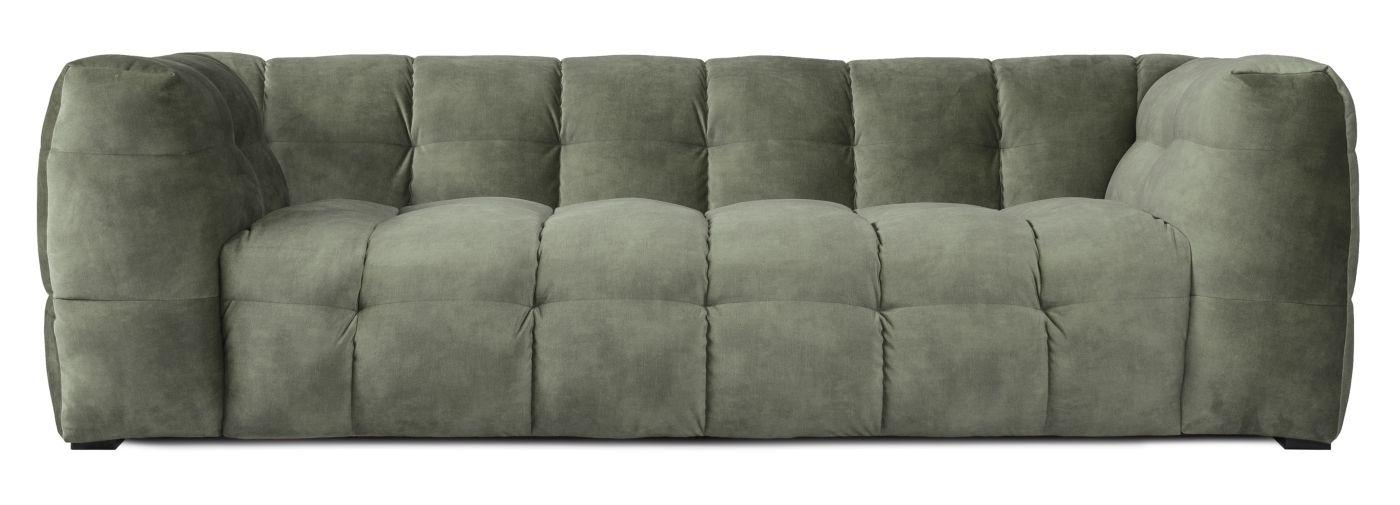Hudson Sofa - mørk grøn m. sorte ben