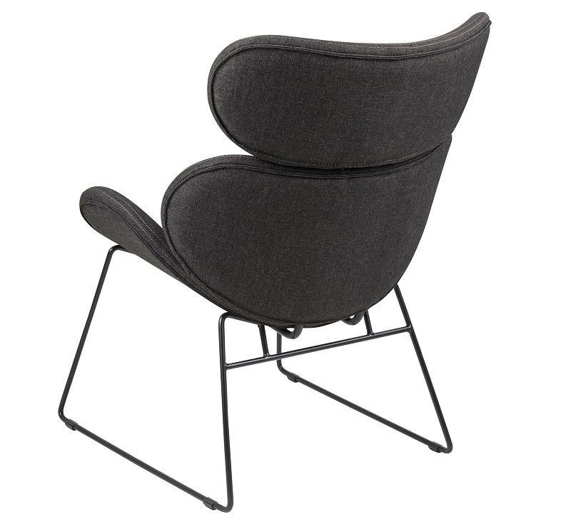 Hunt Hvilestol med grå stof - Sort fod - Grå hvilestol