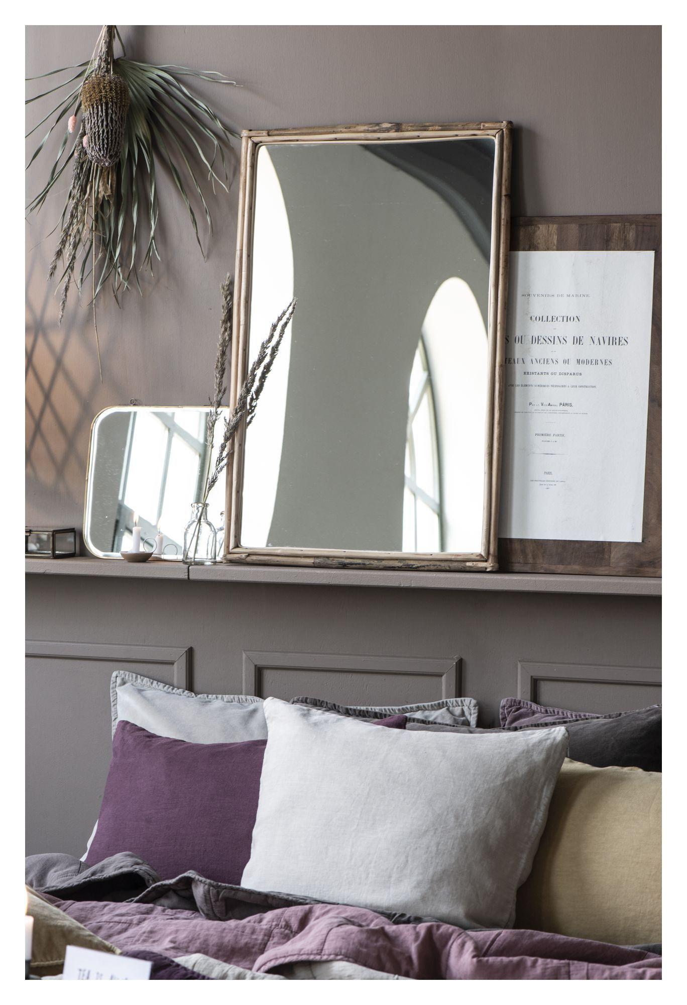 Ib Laursen Vægspejl m. bambuskant