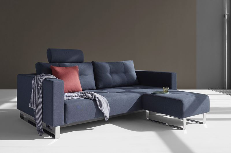 Innovation Living, Cassius Sovesofa Blå - Sovesofa i blå 155x200 cm