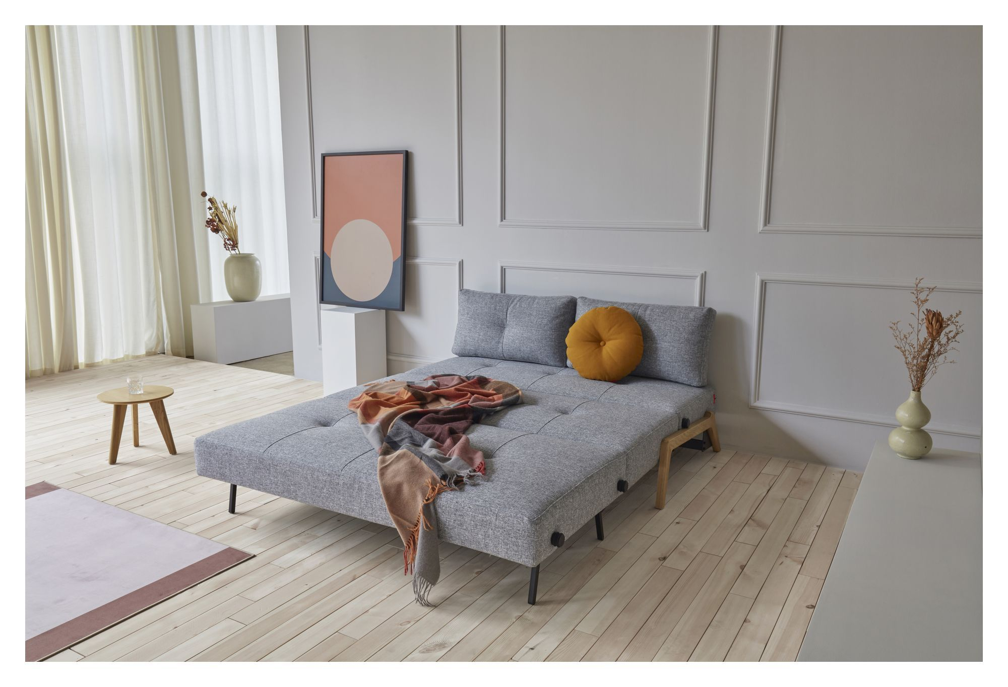 Innovation Living Cubed 140 Sovesofa m. Egeben, Granit grå