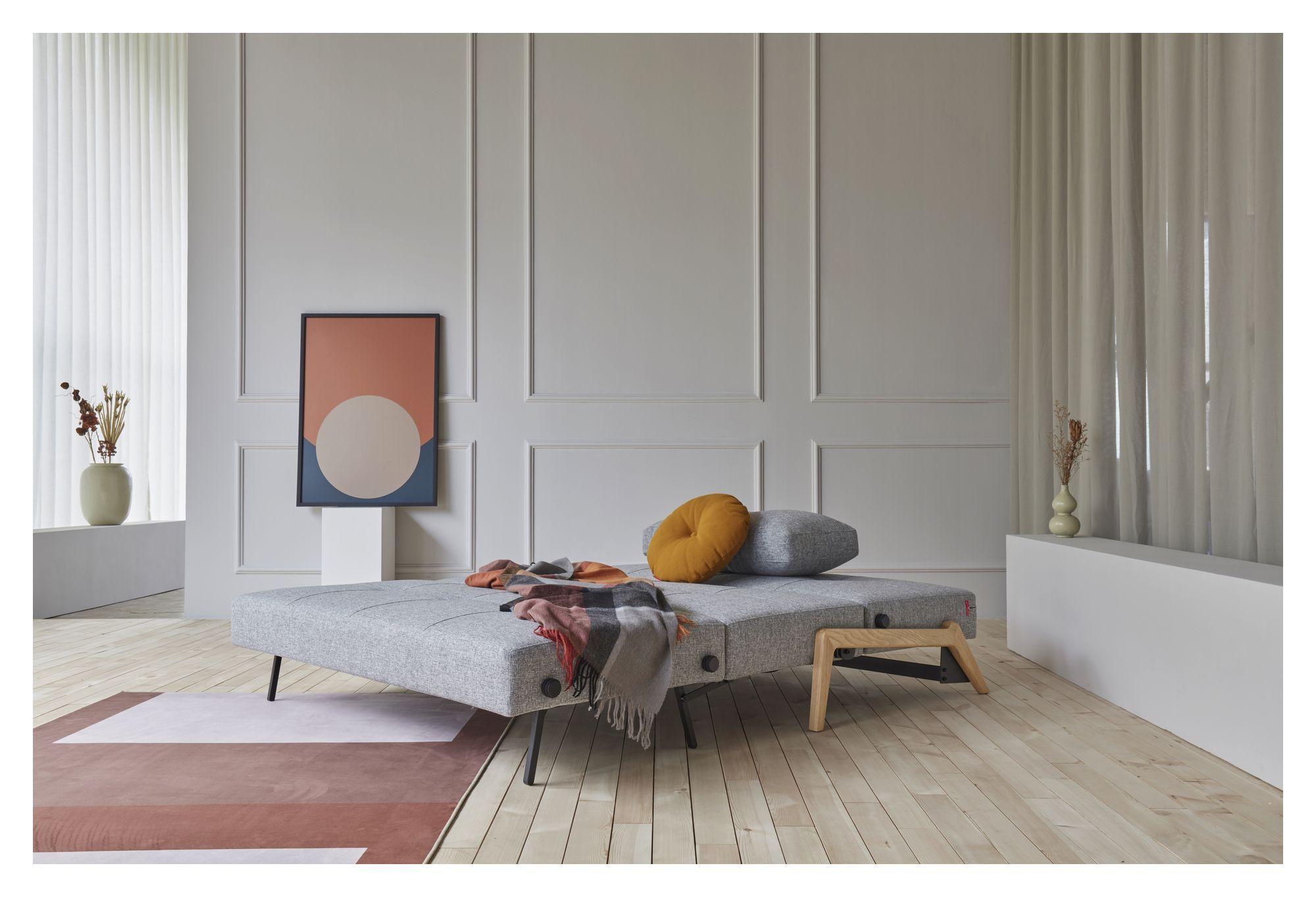 Innovation Living - Cubed 02 Sovesofa 140 m. Egeben, Granit grå
