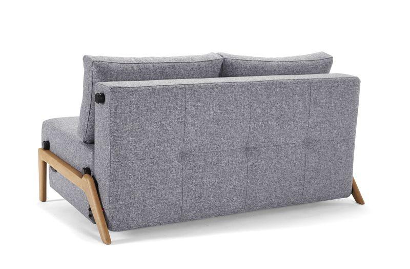 Innovation Living Cubed 140 Sovesofa m. Egeben, Granit grå - Grå sovesofa med egeben