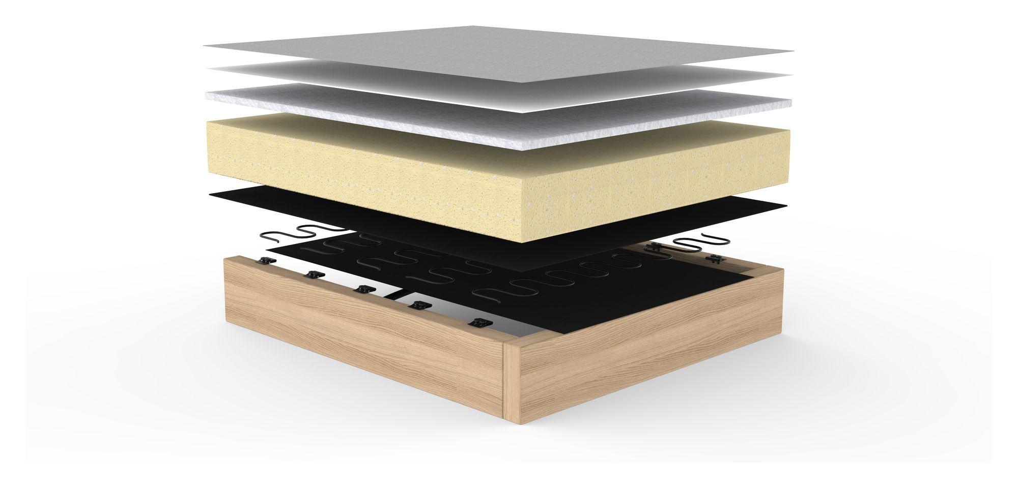 Innovation Living Cubed 140 Sovesofa m. kromben, Grå - Cubed Deluxe Sovesofa - Grå