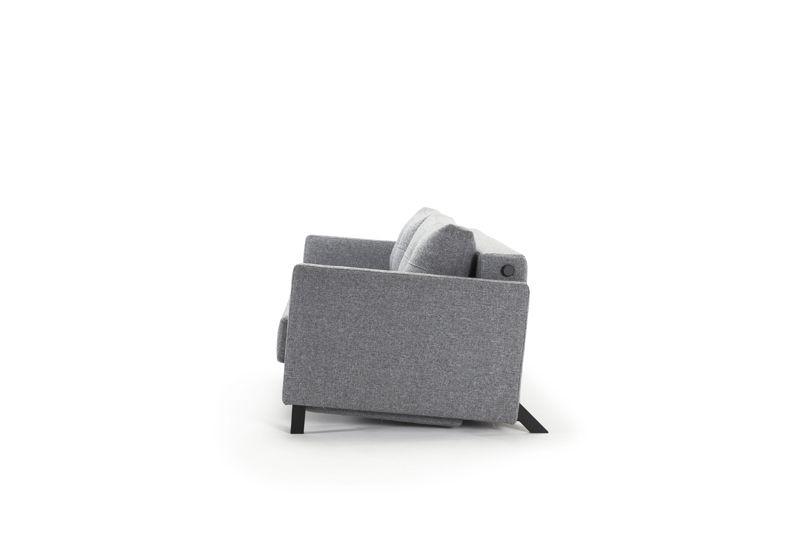 Innovation Living, Cubed 02 Sovesofa 160 m. armlæn, Granit grå - Grå sovesofa 160x200 cm