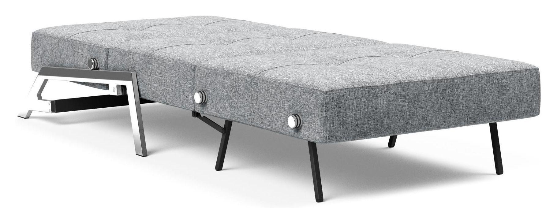Innovation Living Cubed 90 Loungestol m. kromben, Grå - Cubed Deluxe Sovesofa - Grå