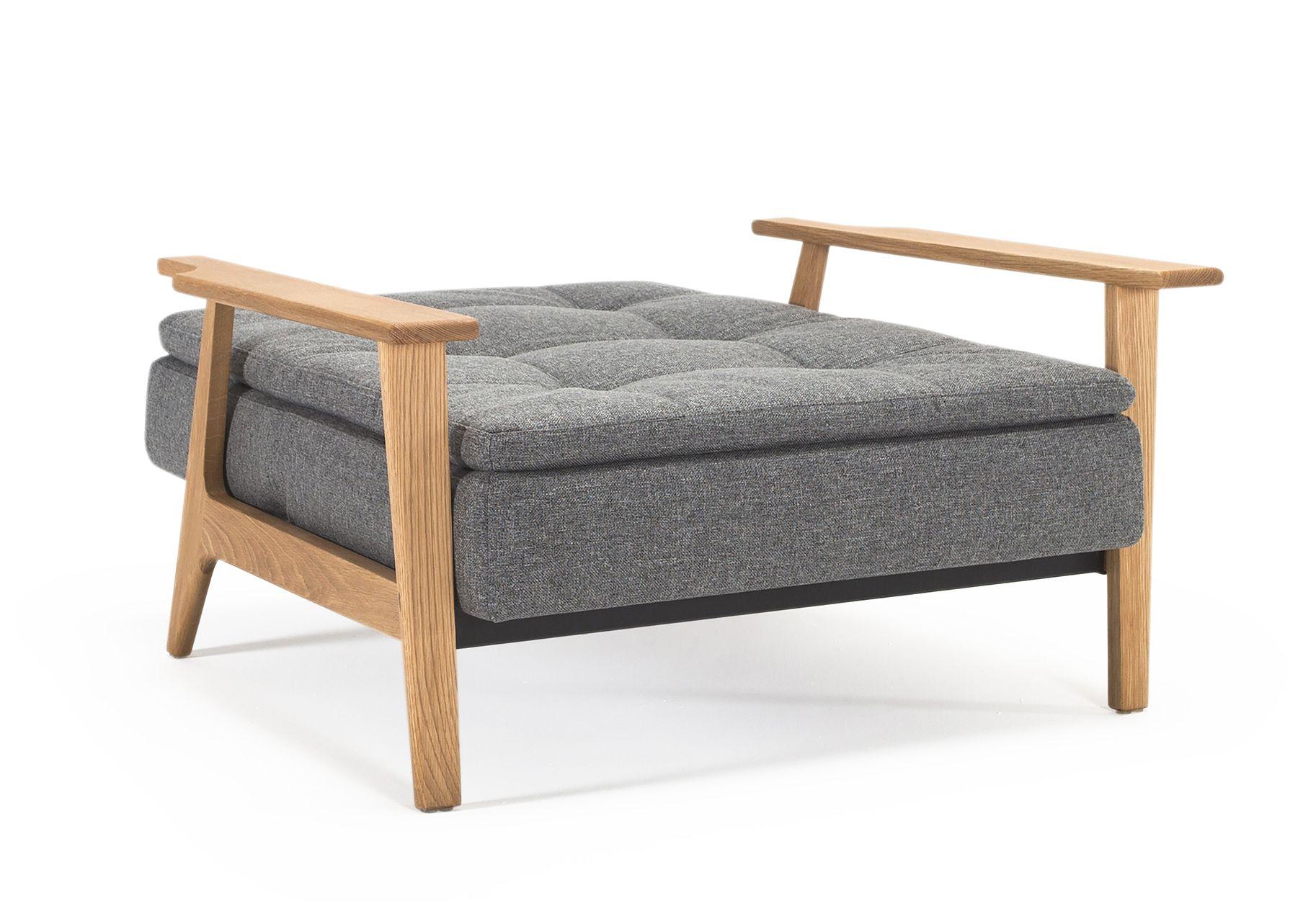 Innovation Living - Dublexo Frej Loungestol Koksgrå - Koksgrå loungestol 115x90 cm