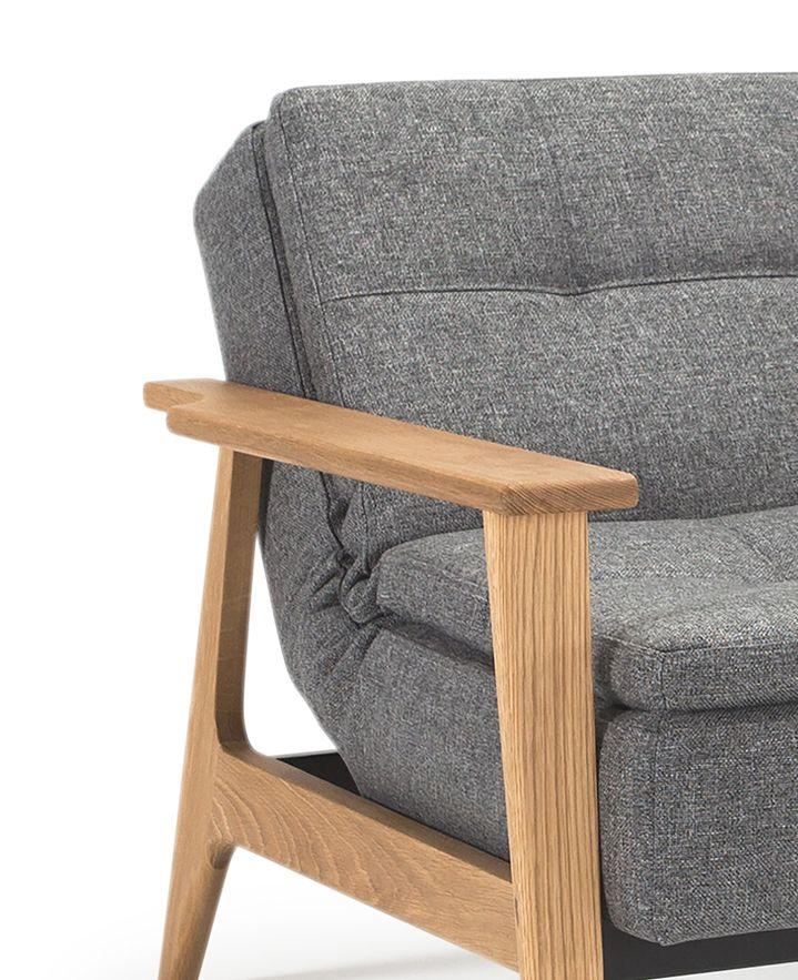 Innovation Living, Dublexo Frej Loungestol Koksgrå - Koksgrå loungestol 115x90 cm