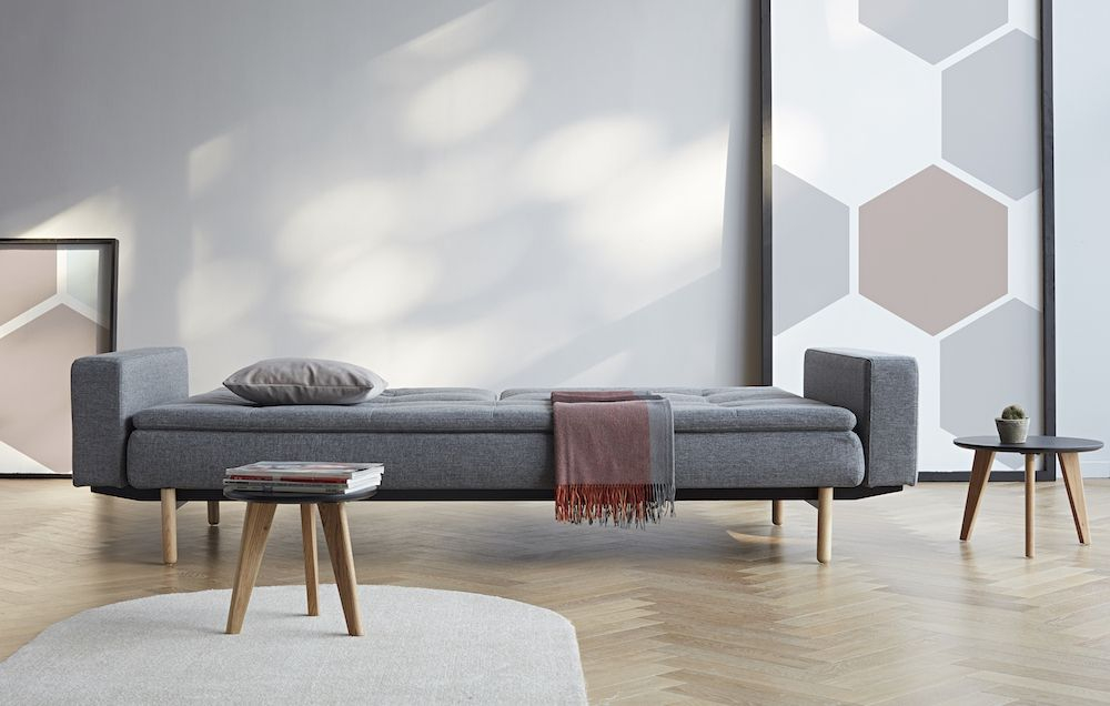 Innovation Living - Dublexo Sovesofa m/armlæn, Grå - Sovesofa med armlæn - grå