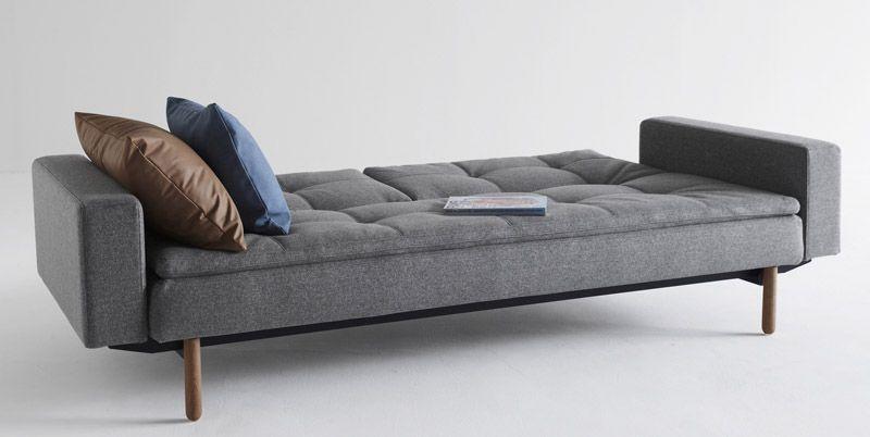 Innovation Living - Dublexo Stem Sovesofa m/armlæn, Grå - Sovesofa med armlæn - grå