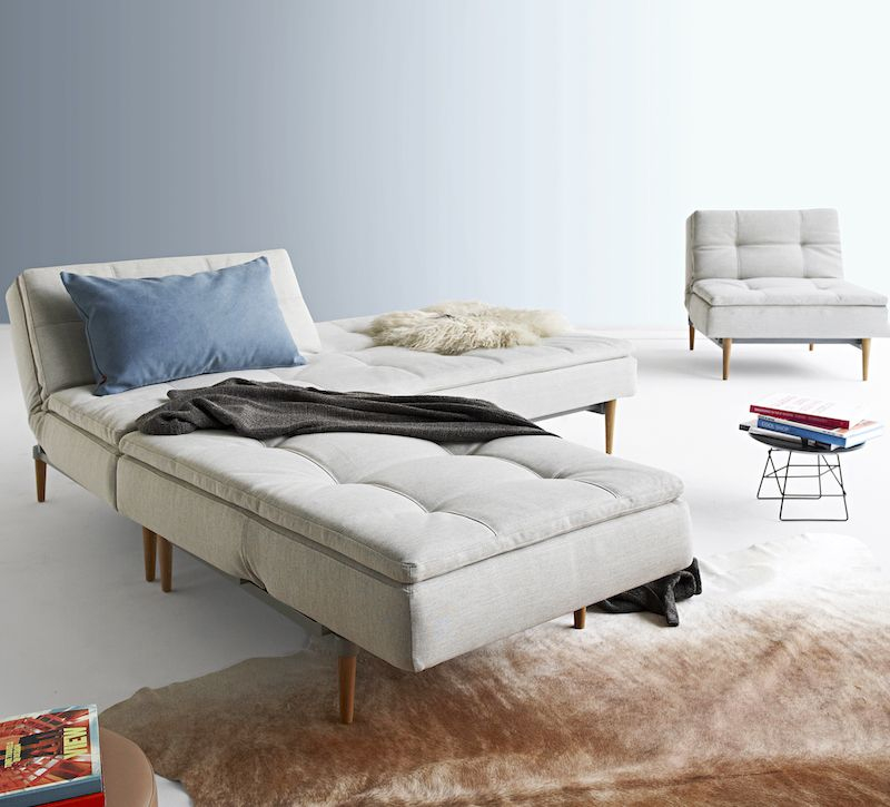 Innovation Living - Dublexo Beige Loungestol, Beige - Loungestol i beige