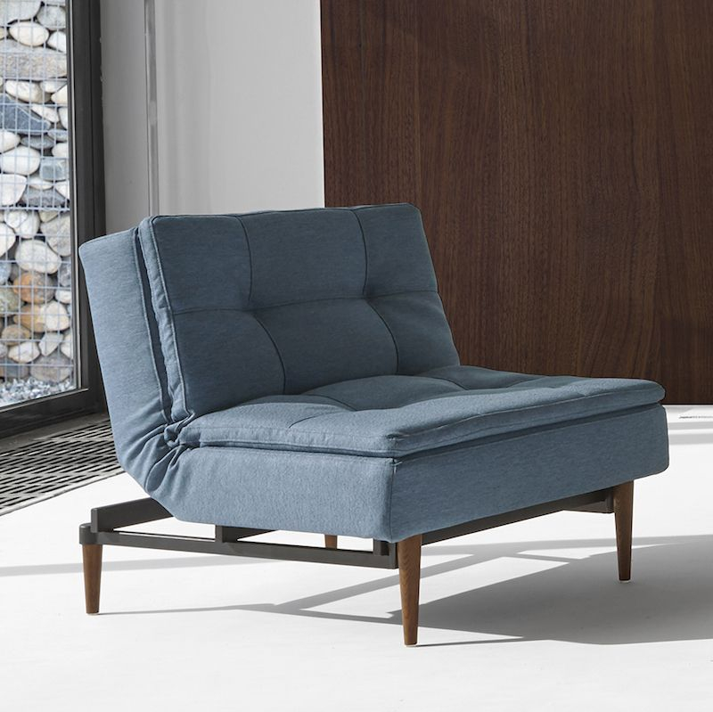 Innovation Living - Dublexo Styletto Loungestol, Indigo Blå - Retro loungestol i blå