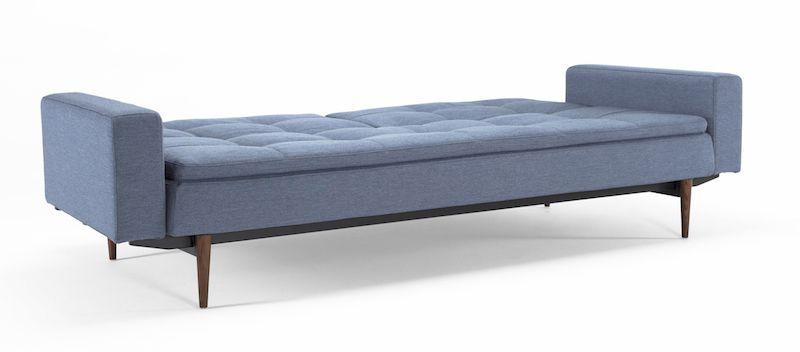 Innovation Living - Dublexo Sovesofa m/armlæn, Blå - Sovesofa med mørke træben