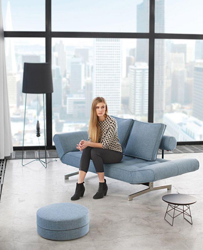 Innovation Living - Ghia - Sovesofa - Blå - Sovesofa i blå stof