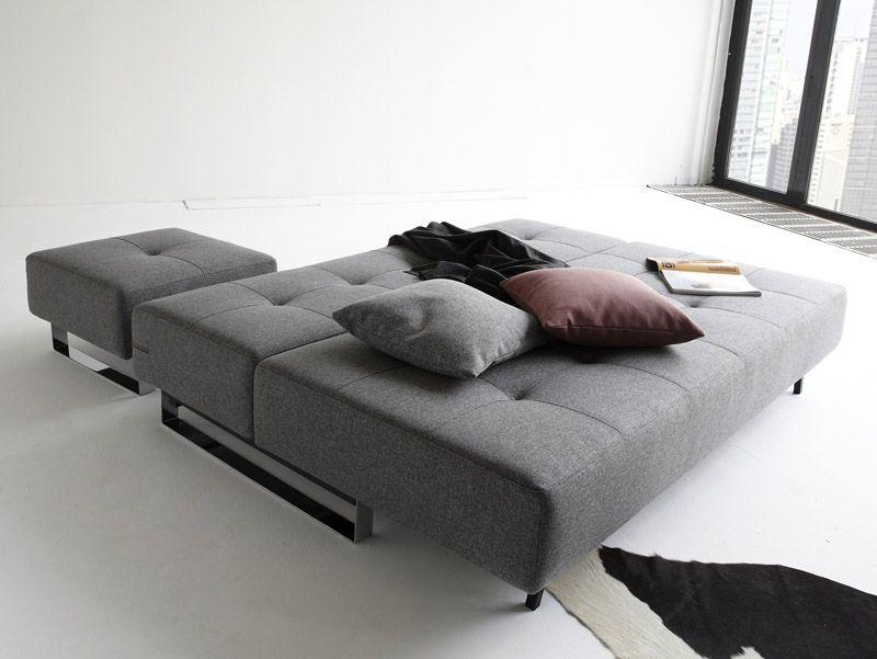Innovation Living Supremax Lounger Sovesofa, Grå - Supremax sovesofa - grå