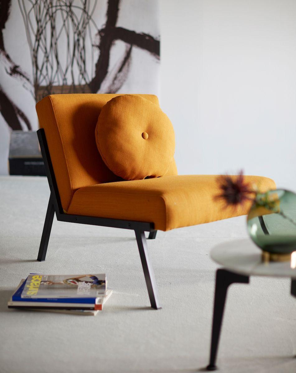 Innovation Living, Vikko Stol m. sorte ben, Gul