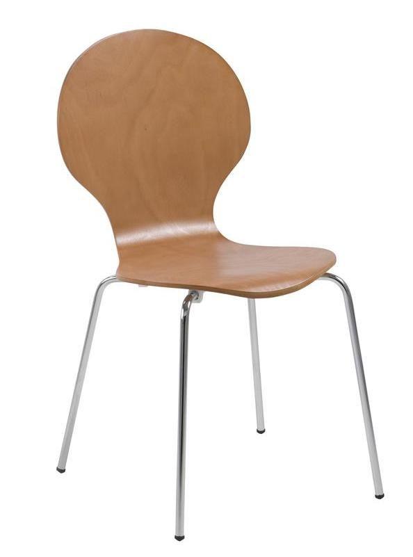 Jonathan skalstol - bøgefinér - Spisestole i finér med formspændt sæde