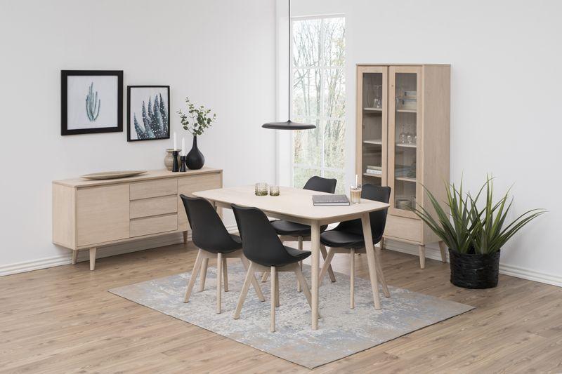 Julius Spisebord - Lys ege finér - 150x80 - Spisebord i egefiner