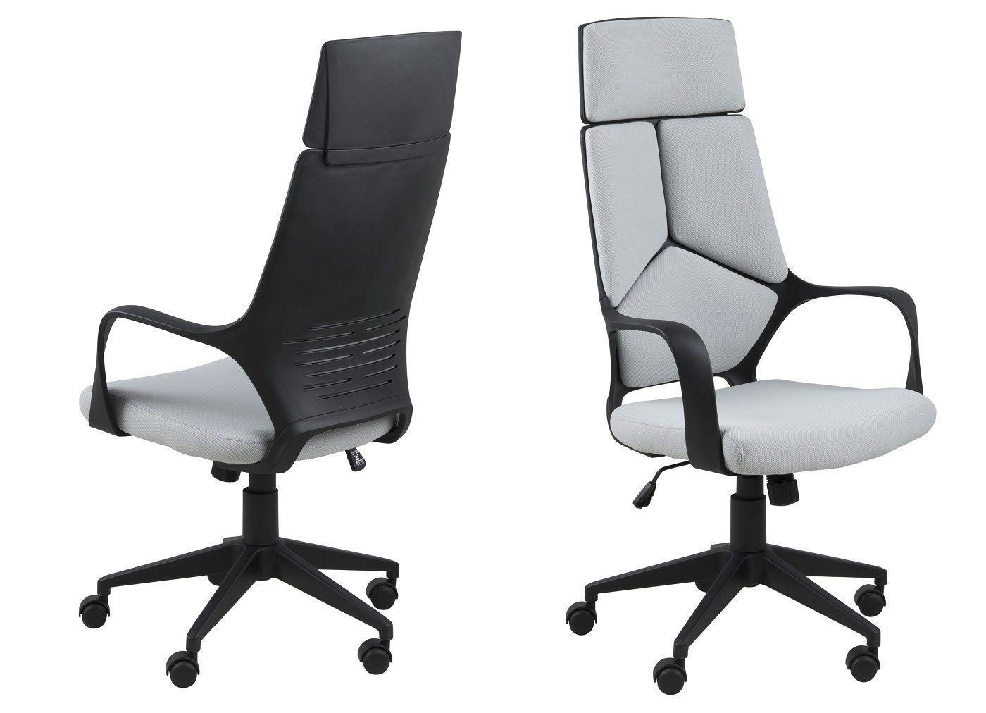 Jura Kontorstol - Grå - høj ryg - Skrivebordsstol med høj ryg