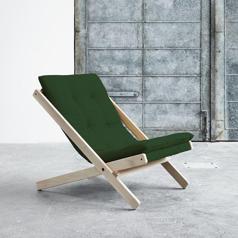 Boogie Lounge stol, Grøn/Natur